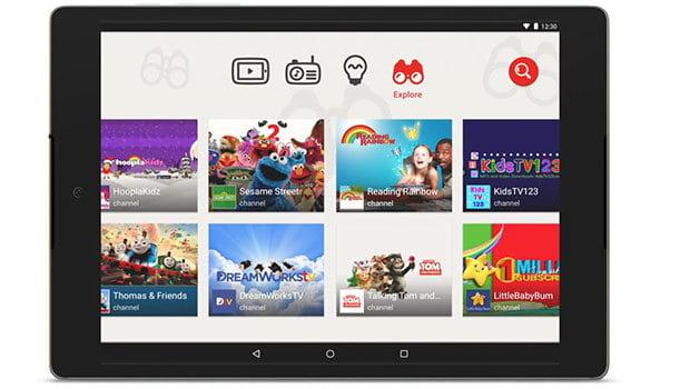YouTube Kids, pour le moment une application, pour tablette et smartphone