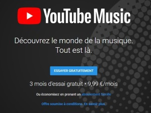 YouTube Music disponible en France