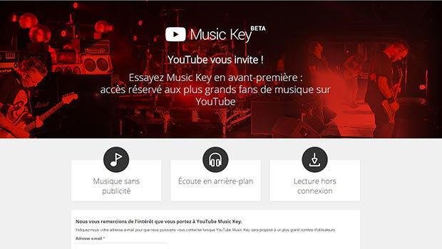 YouTube Music Key, le pendant de Play Music en vidéo