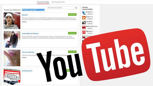 YouTube propose déjà des chaînes payantes avec du contenu valorisé