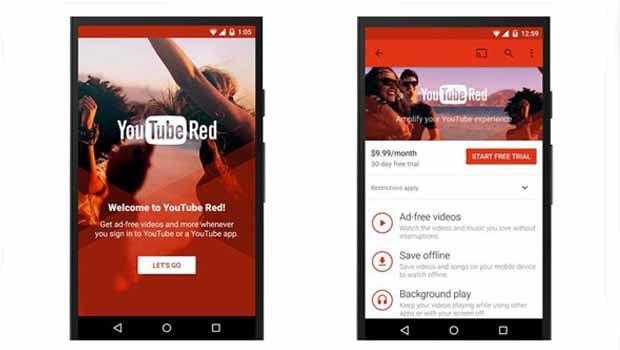 YouTube Red écrans
