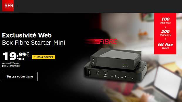 Les offres fibre et câble SFR en promo