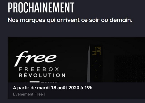 Veepee : annonce de la vente privée Freebox Révolution le 18 août