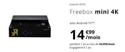 Box Internet fibre pas chère : la Freebox Mini 4K jusqu'à 1 Gb/s