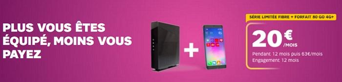 l'offre box+mobile de SFR à 20 euros par mois