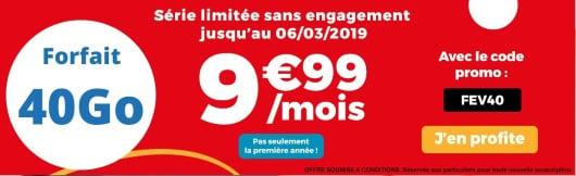 Forfait pas cher : Auchan Telecom 40 Go jusqu'au 6 mars 2019