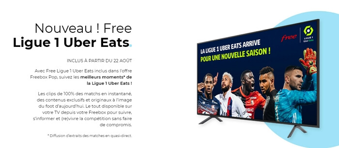 Ligue 1 sur Freebox : le service Free Ligue 1 Uber Eats