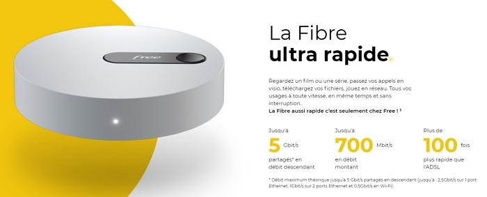 Débit fibre de la Freebox Pop : jusqu'à 5 Gb/s partagés