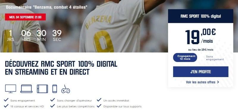 RMC Sport : abonnement sans changer d'opérateur
