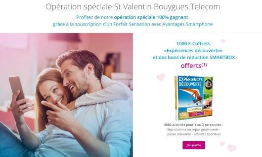 Cadeau de Saint-Valentin chez Bouygues Telecom