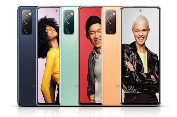 Le Samsung Galaxy FE 5G est disponible en six coloris.