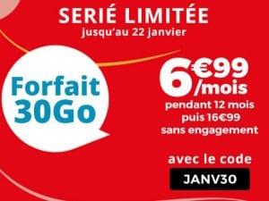 Série limitée Auchan Telecom 30Go - janvier 2019