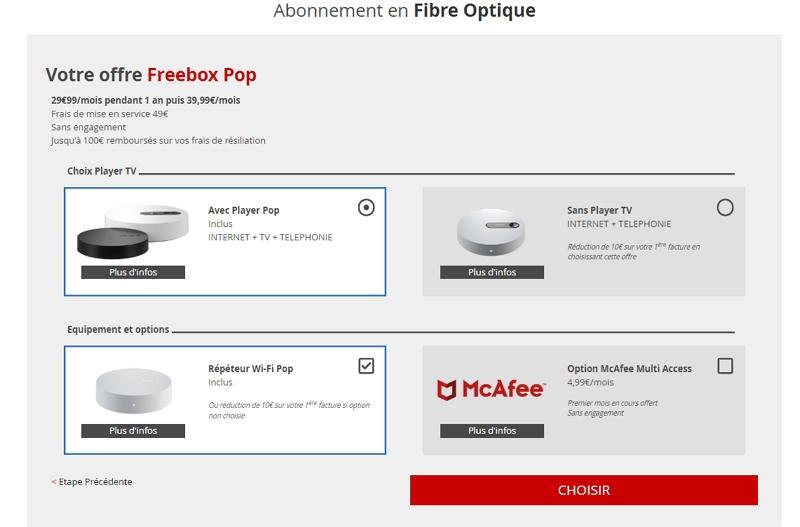 Souscrire la Freebox Pop chez Free