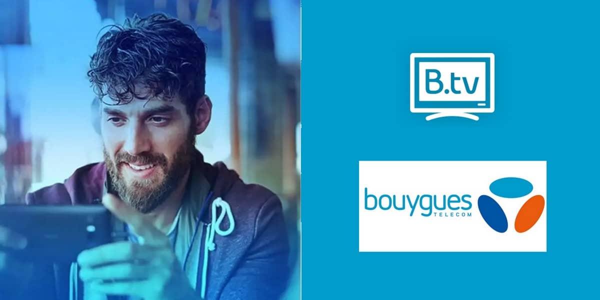 L'application B.TV permet de regarder la TV de Bouygues Telecom sur votre smartphone, votre tablette ou votre smart TV.