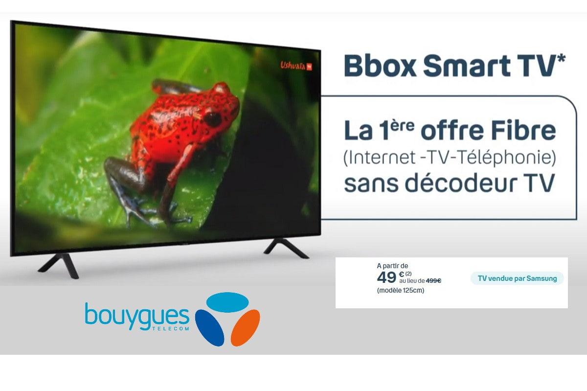 Soldes Bouygues : grosse promo sur la bbox avec Smart TV Samsung
