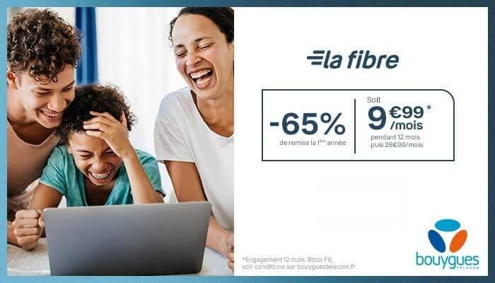 Remise de 65% sur la box Internet Bouygues en promotion à 9,99 euros par mois