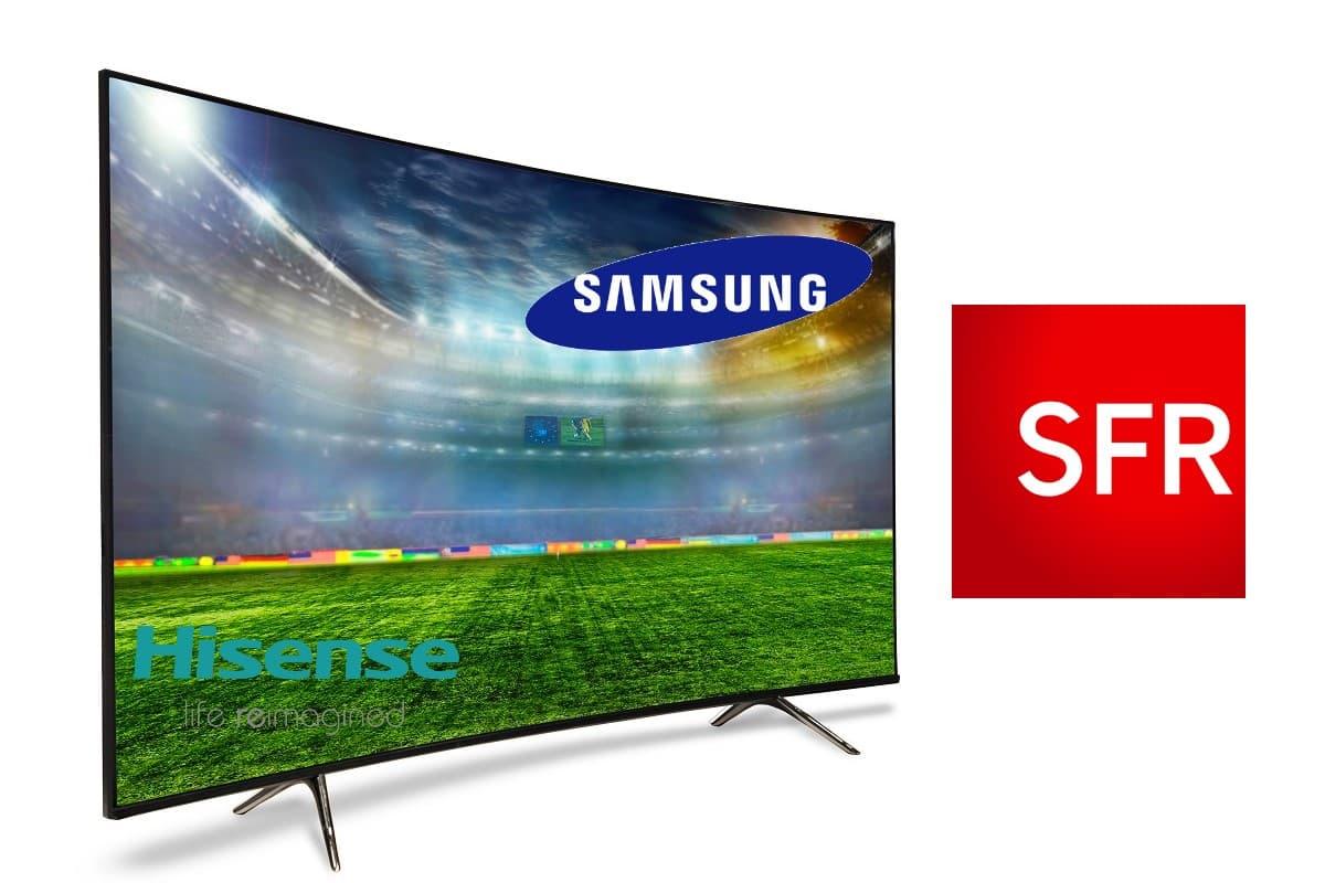Les offres internet SFR avec Smart TV, c'est avec Samsung et Hisense
