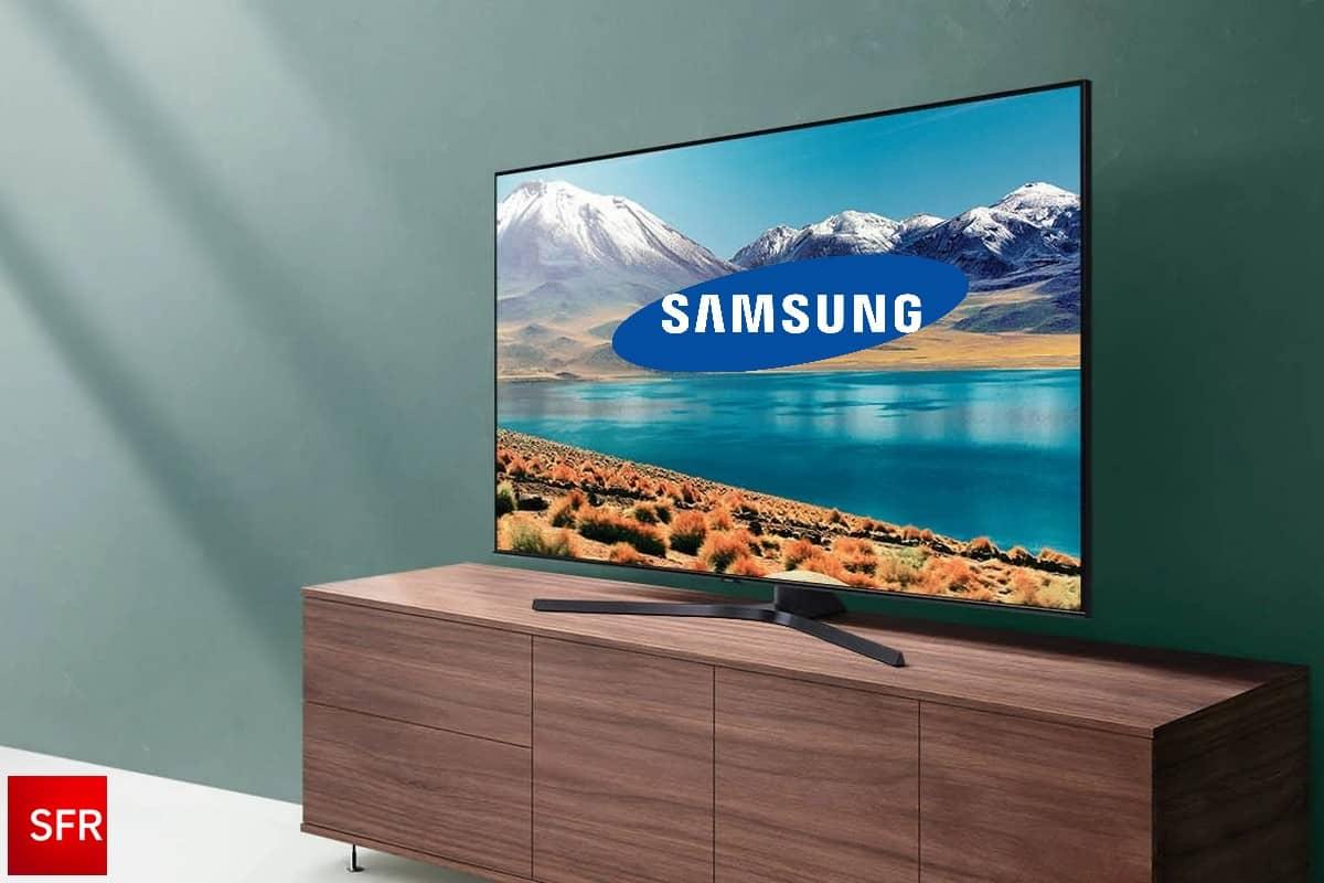 Une télé connectée Samsung compatible 4K à partir d'un euro avec la Box de SFR