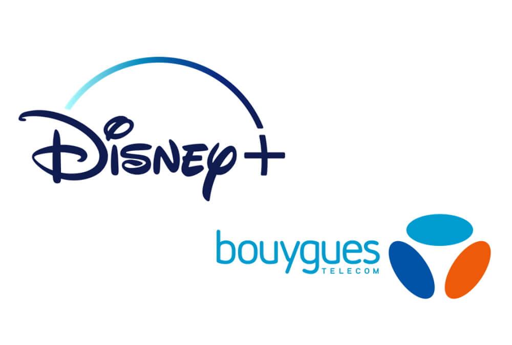 Logos de Disney+ et Bouygues Telecom