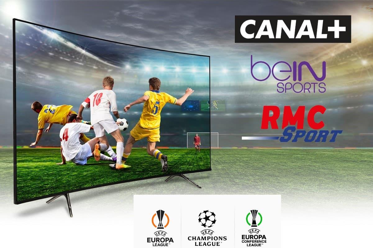 Pour regarder la ligue des champions, la ligue europa ou la ligue europa conférence, il faut être abonné à Canal+, beIn Sports ou RMC Sports