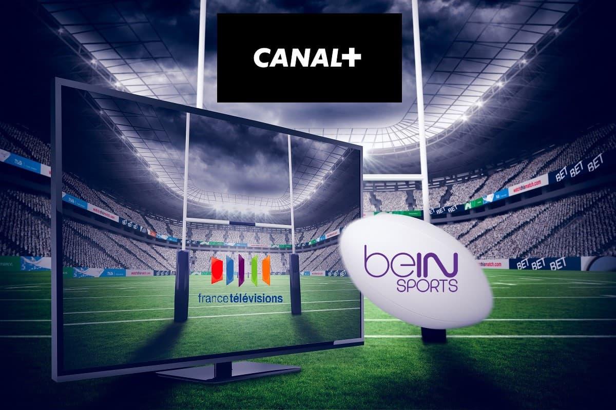 Regarder le rugby à la télévision, c'est sur Canal+, beIN Sports, France Télévisions et TF1