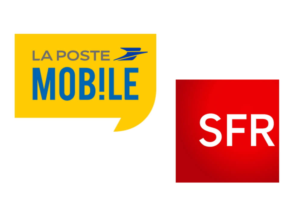 Logos de La Poste Mobile et SFR