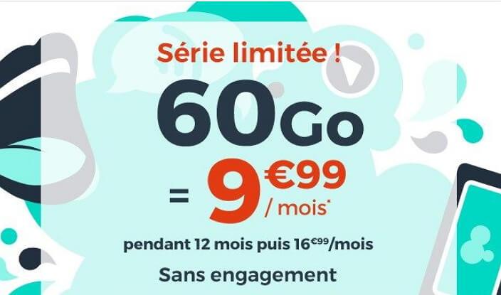 60 Go pour 9,99 euros par mois : l'offre mobile en promotion de Cdiscount jusqu'au 7 avril 2020