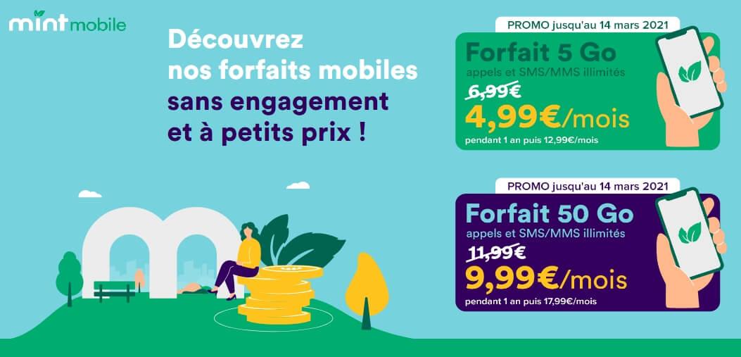 Forfaits en promo : dès 5 euros par mois chez Mint Mobile