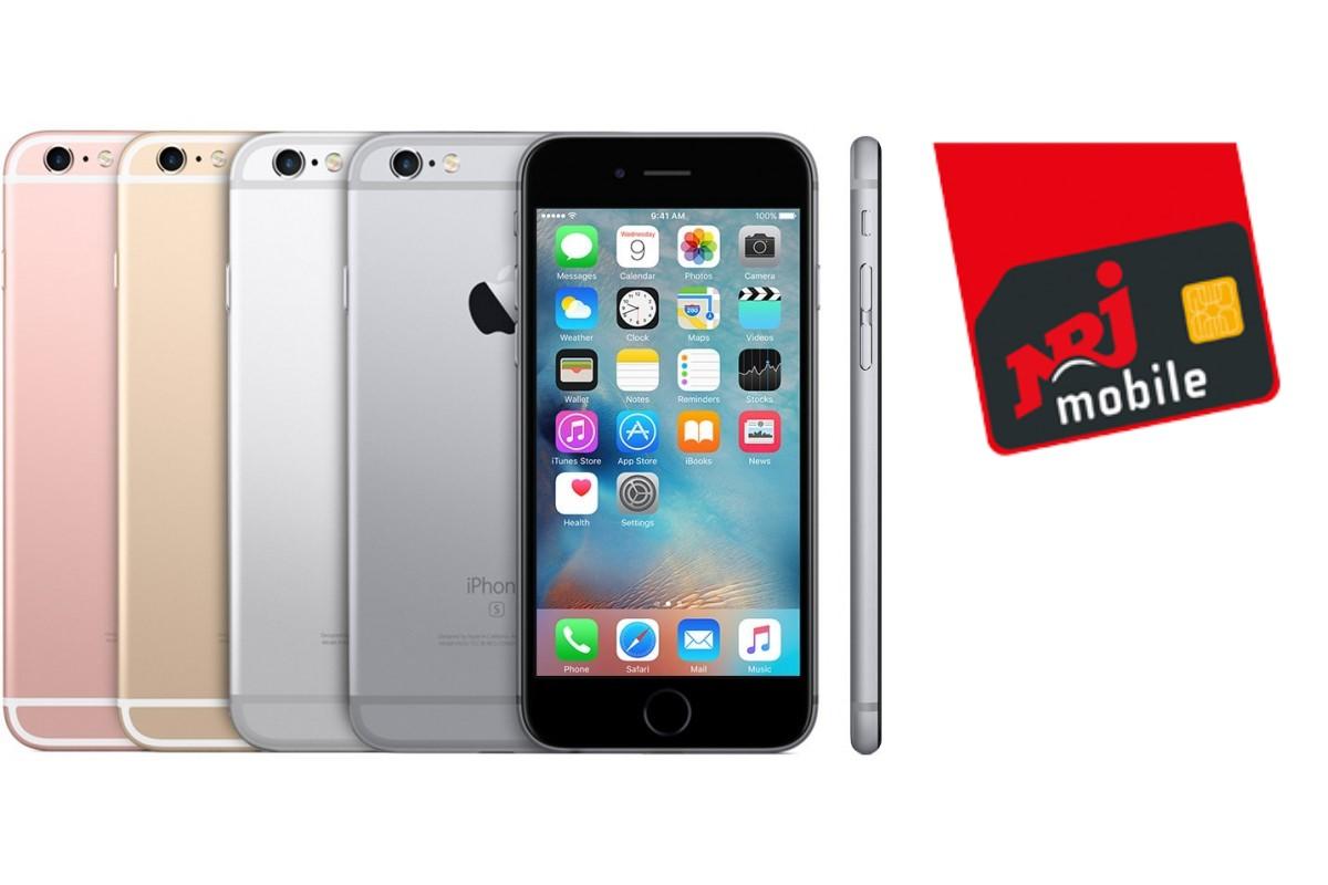 L'iPhone 6S est offert pour toute souscription au forfait 60 Go de NRJ Mobile