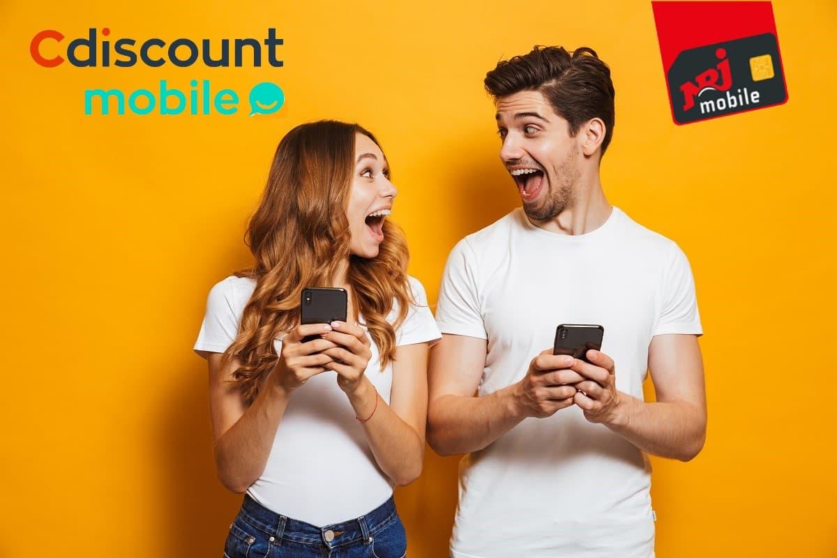 Un téléphone offert avec un forfait Cdiscount Mobile 50 Go ou NRJ Mobile 60 Go