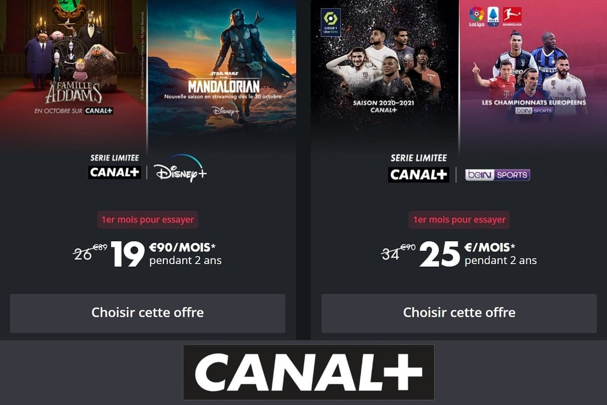 Canal+ lance deux nouvelles offres en série limitée, la première avec Disney+ et la seconde avec beIN Sports