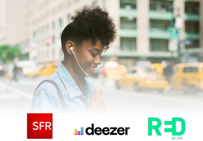 Deezer disponible en option pour les clients mobile SFR et RED