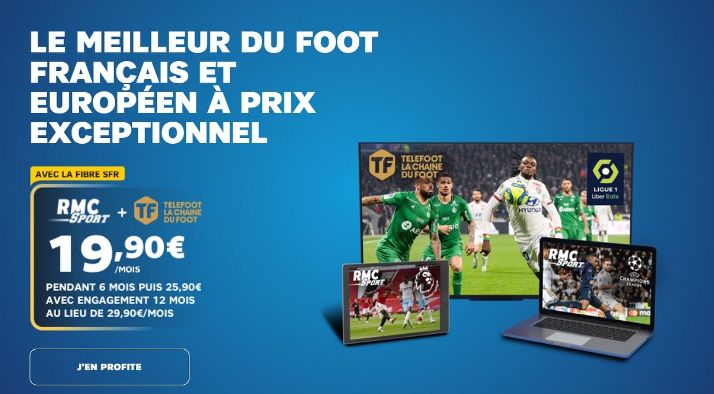 Chaîne Téléfoot avec SFR : l'offre de lancement à 19,90 euros par mois