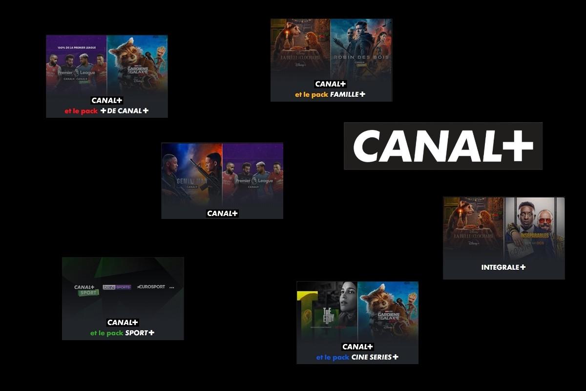 Les différentes offres Canal+.