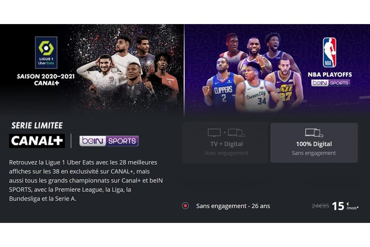 Promo Canal+ avec beIN Sports pour les moins de 26 ans