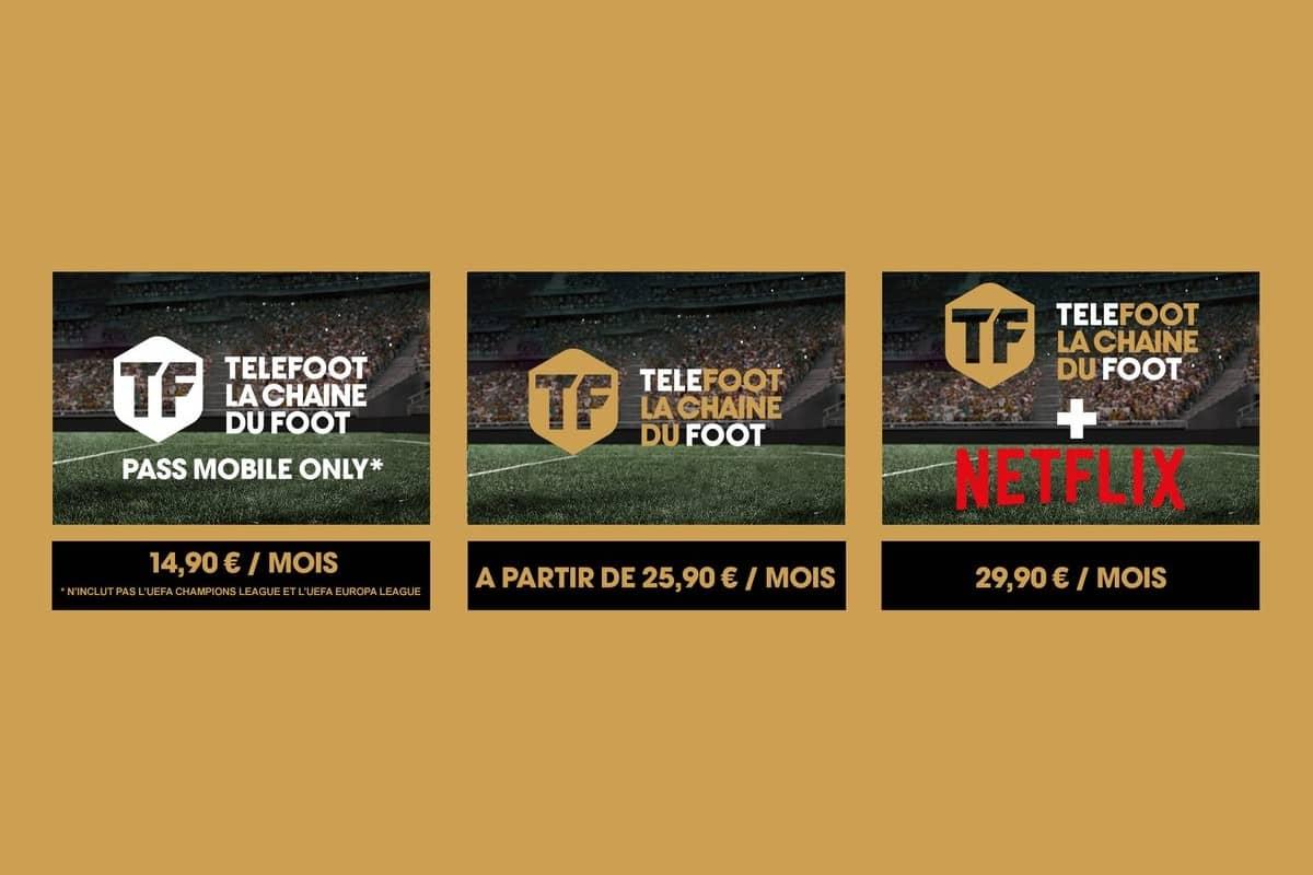 La gamme des forfaits Telefoot est officialisée