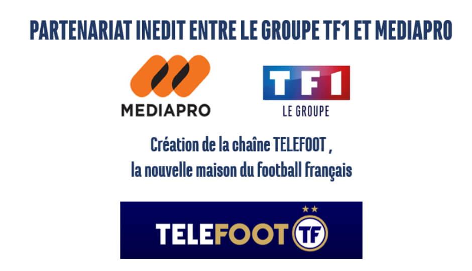 Accord entre Mediapro et TF1 pour créer la chaîne Téléfoot