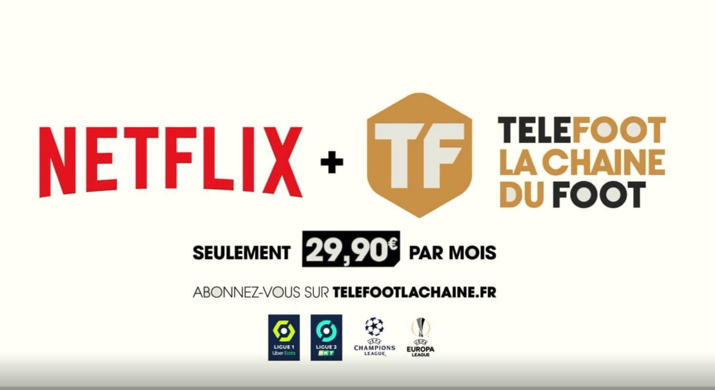 Détail de l'offre Téléfoot avec Netflix : prix et programmes