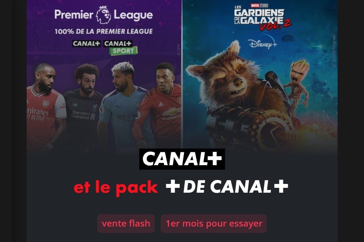 Vente flash sur l'offre Canal+ avec le pack+ de Canal+ à seulement 19,90€/mois
