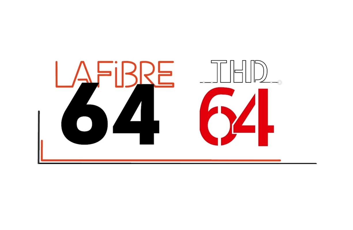 Logos de la fibre 64 et de THD 64