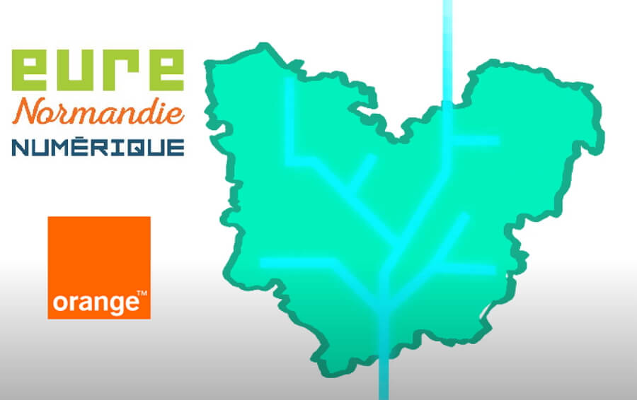 Déploiement de la fibre dans l'Eure et arrivée d'Orange