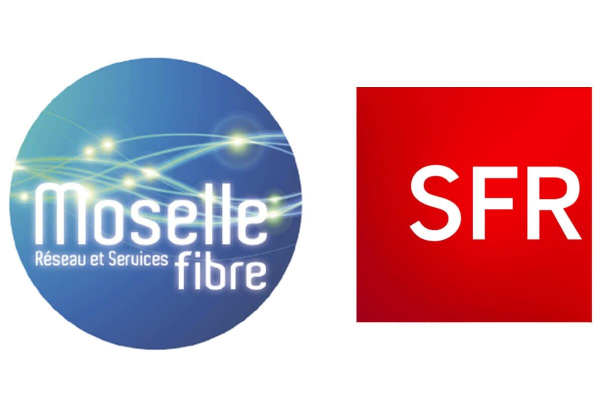 Logos de Moselle fibre et SFR