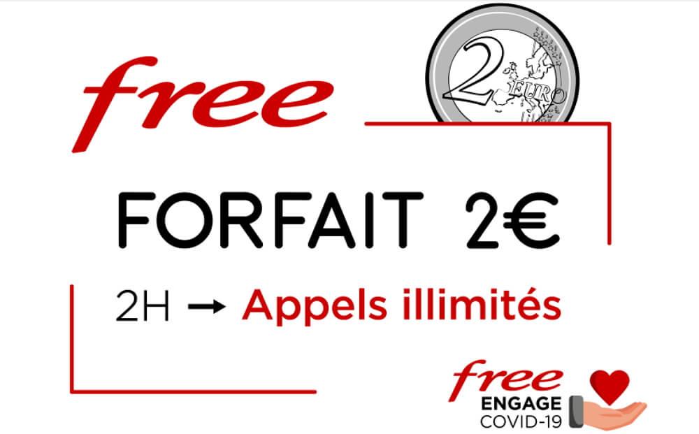 Forfait Free : les appels illimités inclus sur l'offre à 2 euros jusqu'au 11 juin