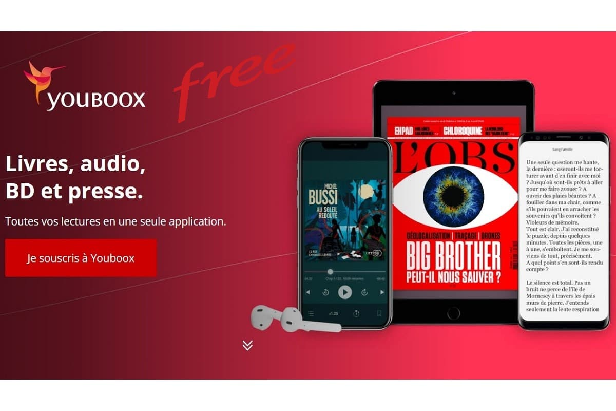 Youboox Premium en option avec les offres Free