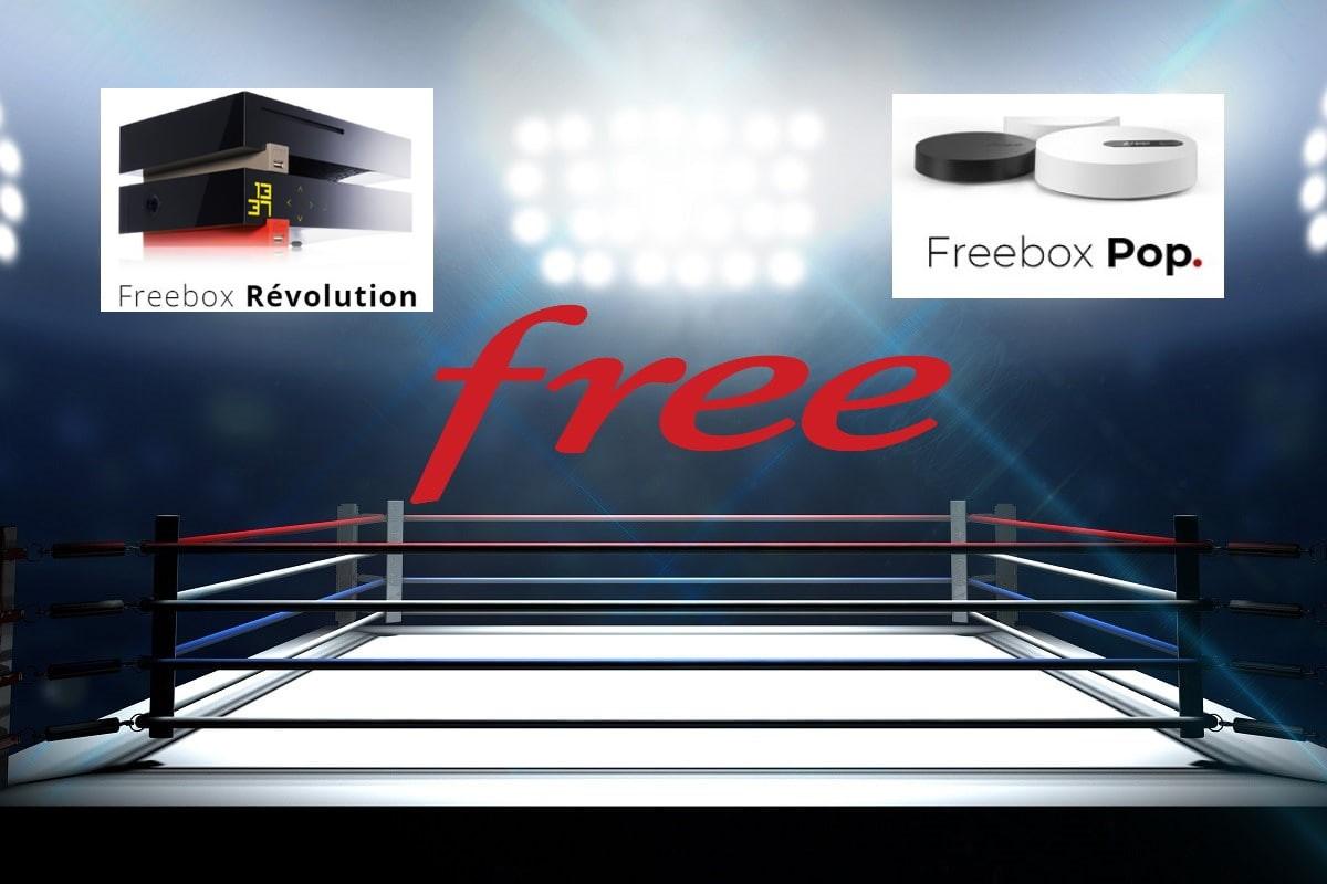 Comparatif entre la freebox Révolution et la Freebox Pop