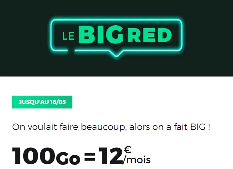 Le forfait RED en promo avec 100 Go à 12 euros par mois jusqu'au 18 mai 2020