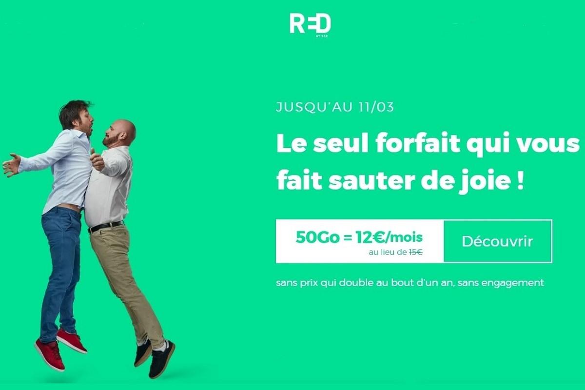 Le forfait RED 50 Go est peut-être l'offre mobile la plus intéressante du moment