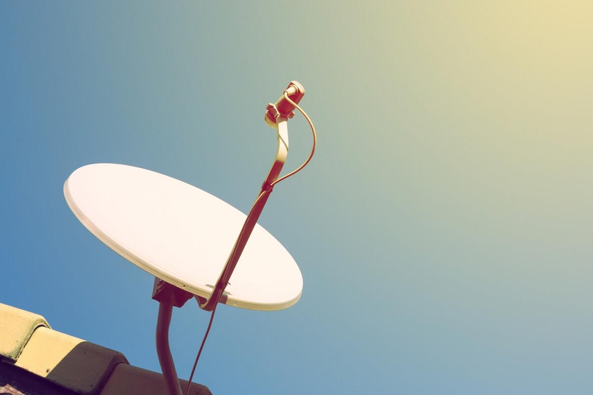 Parabole pour l'Internet par satellite