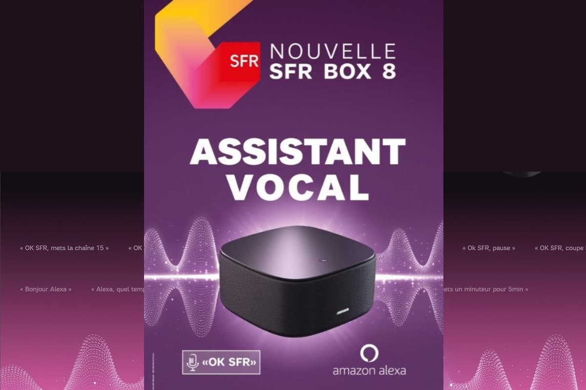 Amazon Alexa enfin disponible sur la SFR box 8