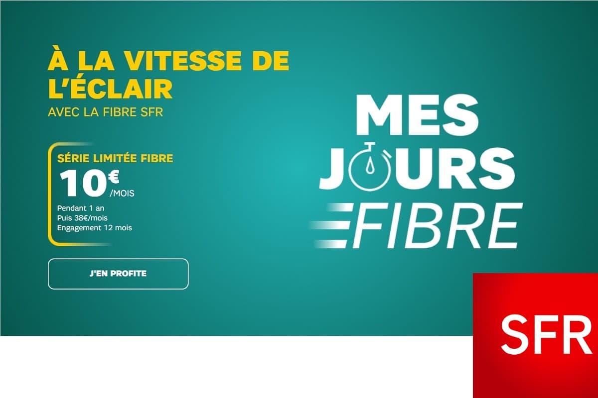 Dernier jour pour l'offre Internet SFR fibre à 10€
